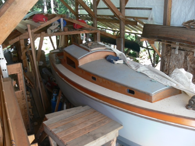 Kukri being restored near Victoria, British Columbia.