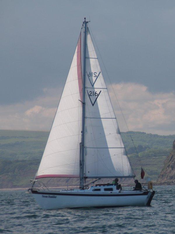 Ocean Rambler sailing off Whitby.